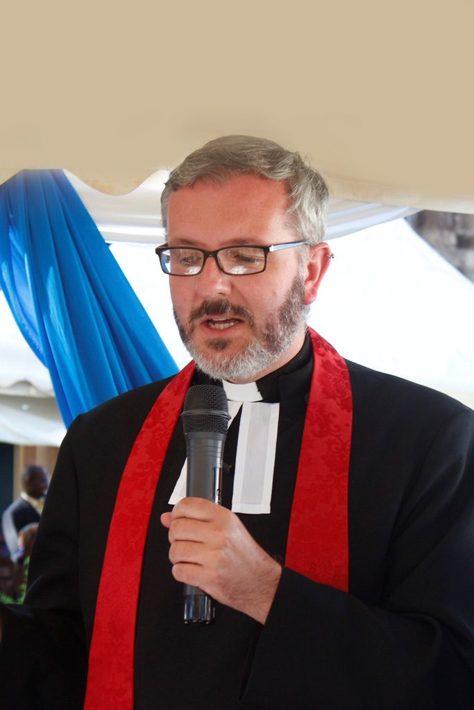 Photo of Revd Sam McBratney in clerical robes
